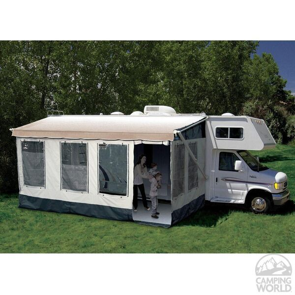 Carefree Buena Vista Room Fits Traditional Manual And 12 Volt Awnings With Vertical Arms 12 13 Feet Rv Screen Rooms Rv Screen Camper Makeover