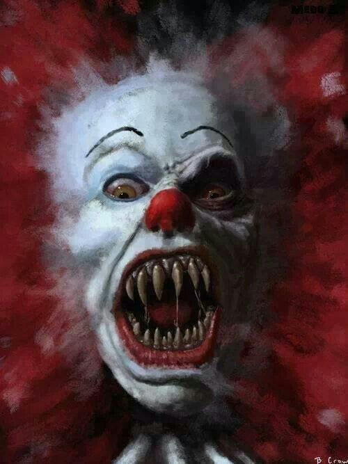 Exceptionally creepy Pennywise the clown piece. Stephen King's It