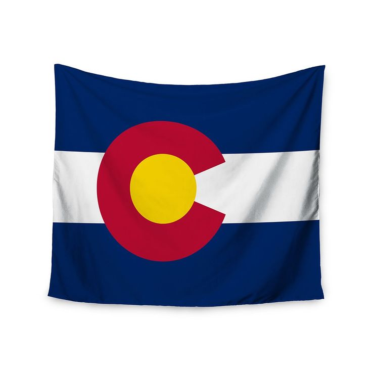 "Kess InHouse Bruce Stanfield ""Flag of Colorado II"" Blue Red Wall Tapestry 51'' x 60'' (Flag of Colorado II) (Polyester)"