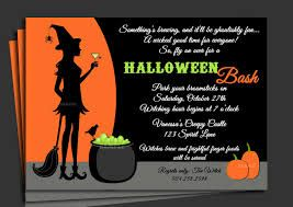 crazy creative halloween party invitation wording idea with orange and black color theme - Creative Halloween Party Invitations