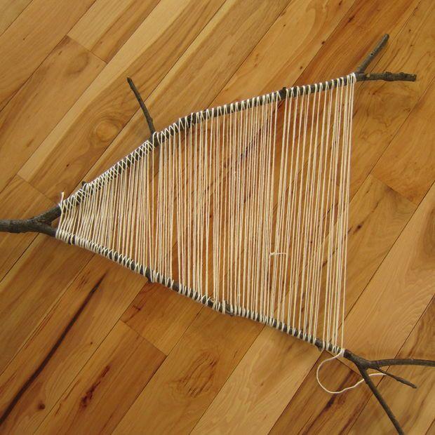 Branch weaving tutorial...I'll enjoy doing this in the summer sun.
