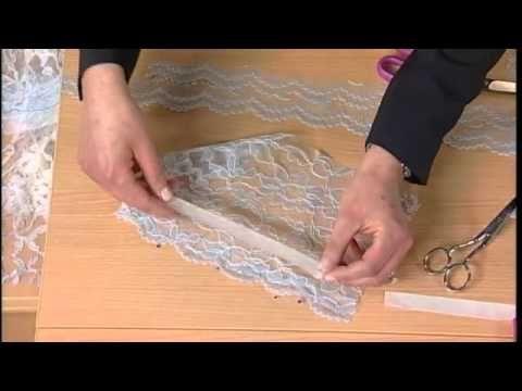 Técnica para cortar y coser encaje