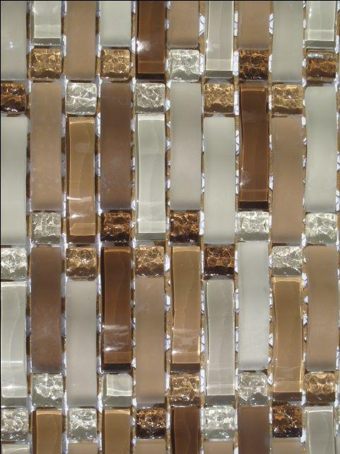 bathroom shower tile glass | ... Curved Mosaic Glass Tile Kitchen Backsplash Bathroom Shower | eBay