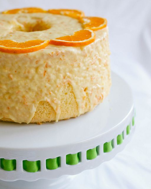 Treats: Orange Chiffon Cake Alec and I made one for Terry's/Dad's birthday. The icing was the best part.