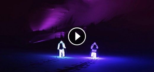 Two Guys Went Skiing In Pitch Dark Wearing LED Suits. The Result? There Are No Words!!