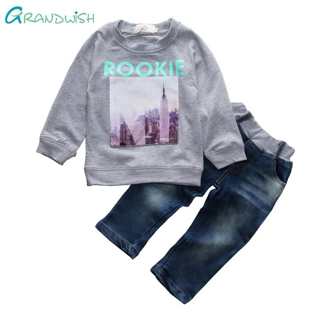 Buy now Grandwish Toddler Girl Character Costume Boys Tops+Jeans Pants Suits Children Spring Outfit for Kids Sports Suit 2T-7T,SC745 just only $12.73 - 14.10 with free shipping worldwide  #boysclothing Plese click on picture to see our special price for you