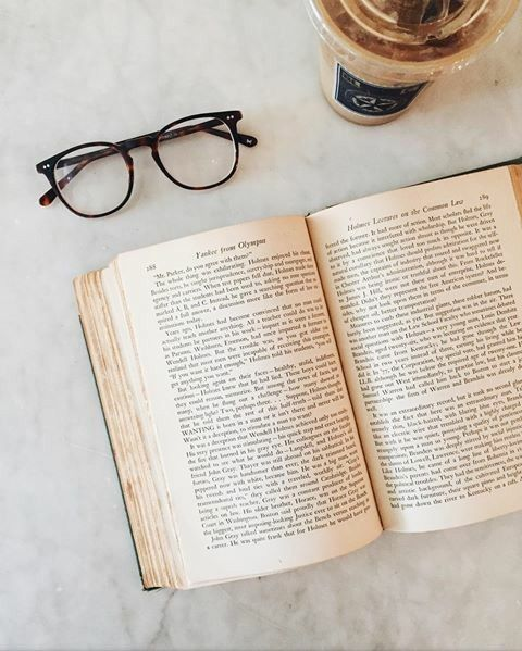 book, read, and coffee image