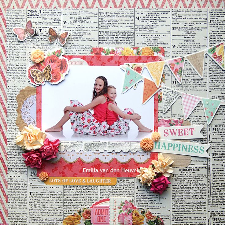 Sweet Happiness {Kaisercraft & Merly Impressions} - Scrapbook.com