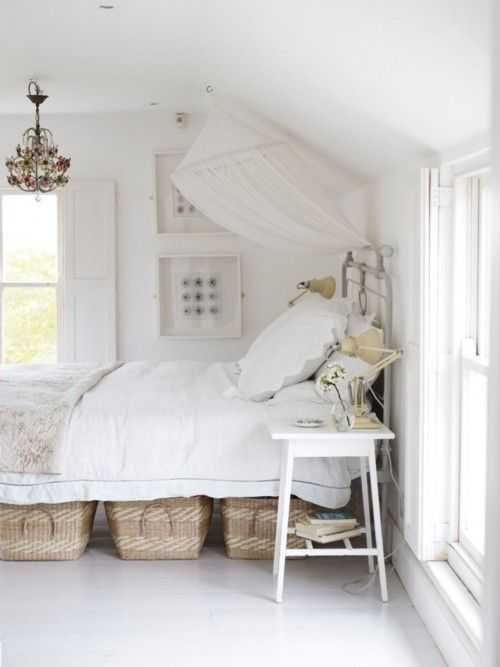 Crisp, clean and white. Nothing feels like home more then with antiques, white sheets and a glass of wine curled up in bed.