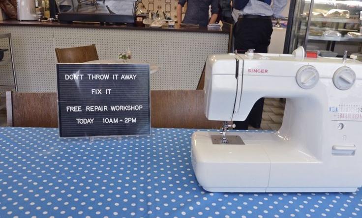 Fix It! Pop up workshops at Per Diem Cafe