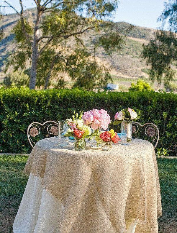 31 Best Burlap Wedding Table Decor Images On Pinterest
