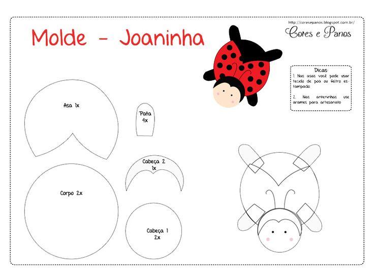 Molde de Joaninha