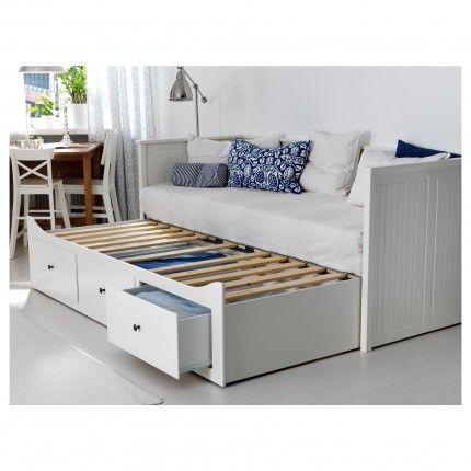 HEMNES Łóżko rozkładane z 3 szufladami