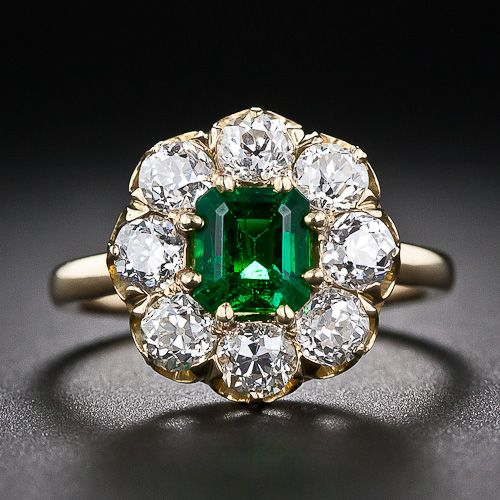 Antique Emerald and Diamond Ring   CATCH A FALLING STAR by Beth K Vogt