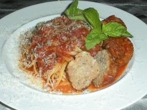 SPAGHETTI RECIPE with VOLPI CALABRESE SALAMI MEATBALLS from Volpi Foods