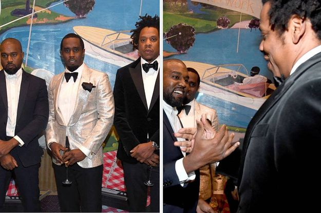 Jay Z And Kanye West Reunited At Diddy S 50th Birthday Party And The Photos Are Worth A Thousand 50th Birthday Party 50th Birthday Gag Gifts Birthday Gag Gifts