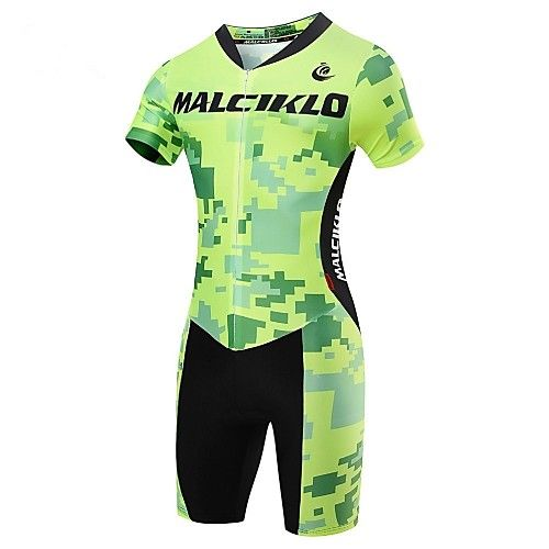 Malciklo Fahrradtriktot mit Fahrradhosen Herrn Kurzarm Fahhrad triathlon/Triathlon-Anzug Trisuit Kompressionskleidung Kleidungs-Sets 2018 - €30.74