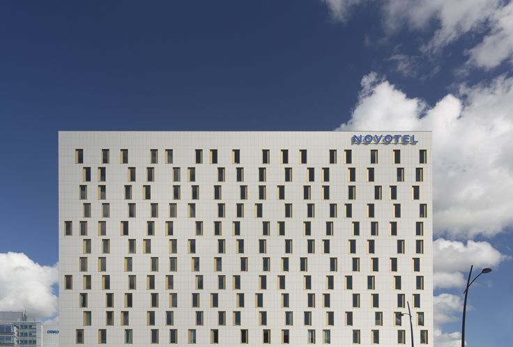 Novotel in Hoofddorp, Netherlands with #Mosa Facades, rock-hard and weatherproof system