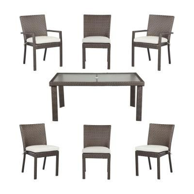 Hampton Bay Beverly 7Piece Patio Dining Set with Bare