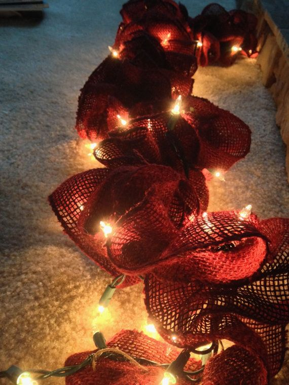 Pre Light Burlap Garland Christmas/ by FiveSixteenOriginals