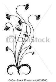 Résultats de recherche d'images pour «dessins fleurs noir et blanc»