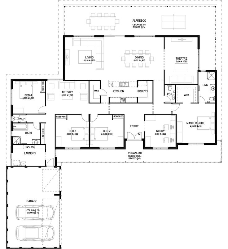 Floor Plan Friday: Big traditional country house - Katrina Chambers