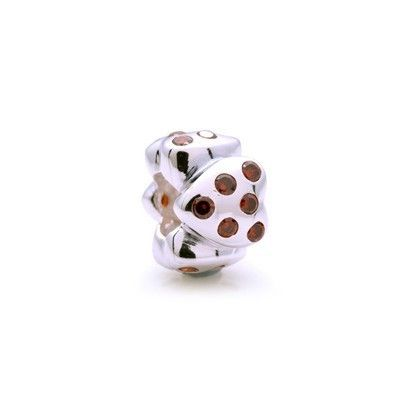 Pandora Birthstone Charms Gems and Silver Red
