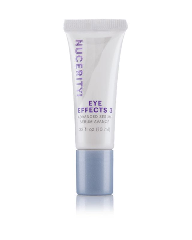 Eye Effects 3: Advanced Serum Have you ever wondered why some people seem to have ageless eyes? The answer might surprise you: It's communication. Using breakthrough science to harmonize communication between skin cells, Eye Effects 3 restores hydration and delivers anti-aging nourishment to the thin, fragile skin around the eyes. Specifically formulated to target three critical signs of aging—fine lines around the eyes, under-eye puffiness, and dark circles.
