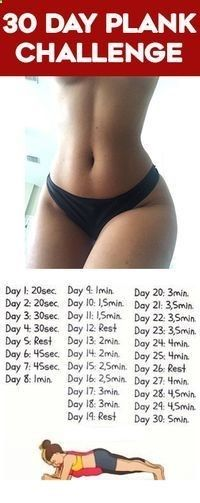 30 day plank challenge for beginners before and after results - Try this 30 day plank exercise for beginners to help you get a flat belly and smaller waist.http://www.femniqe.com/2017/01/13/how-to-get-a-tiny-waist/