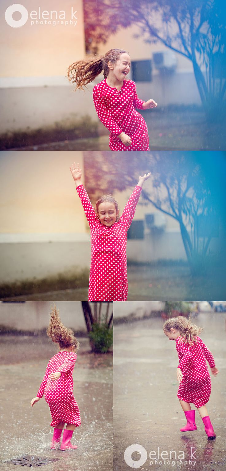 elena k photography - fotografo di bambini a Milano - girl dancing in the rain