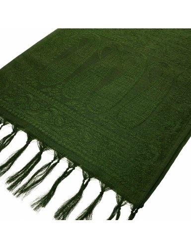 Echarpe verte en soie de Bénarès pour hommes 182 x 25 cm: Amazon.fr: Vêtements et accessoires