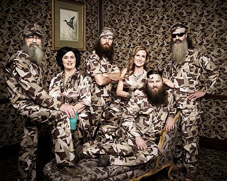 "Camo:  Stereotypically rednecks always wear camo or own everything that is Camouflage.  Camo is part of being redneck so this portrait  reinforces the ""redneck"" stereotype."