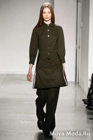 Темные оттенки зеленого в одежде