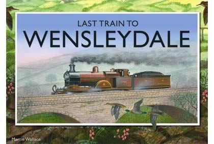 """LAST TRAIN TO WENSLEYDALE es un juego de trenes en donde los jugadores representan el rol de inversiones en pequeñas compañías ferroviarias ávidos por obtener el mayor beneficio transportando pasajeros, piedra y queso... en el área de Yorkshire. Este juego de Martin Wallace ha sido reimplementado bajo el nombre de """"First train to Nuremberg"""" http://www.planetongames.com/first-train-nuremberg-p-2427.html (ya que el original está descatalogado), De 3 a 4 jugadores y está en inglés."""