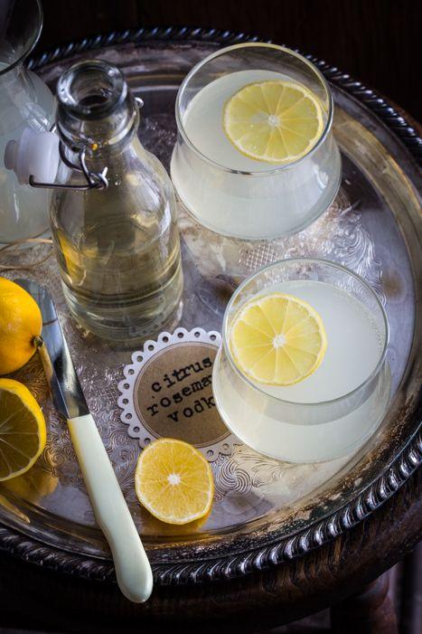 (Citrus Rosemary Vodka Spritzer)