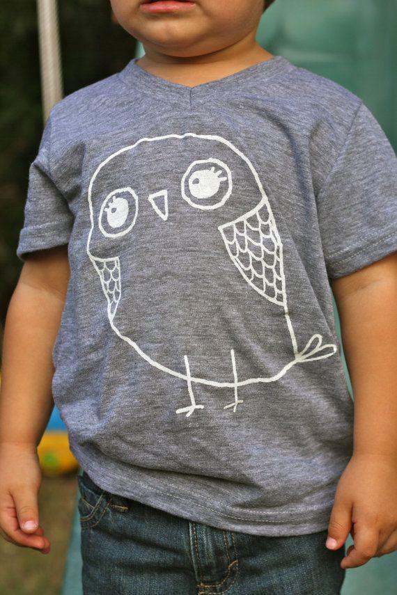 Children's TShirt Cute Owl Tshirt for Kids Fashion for Kids