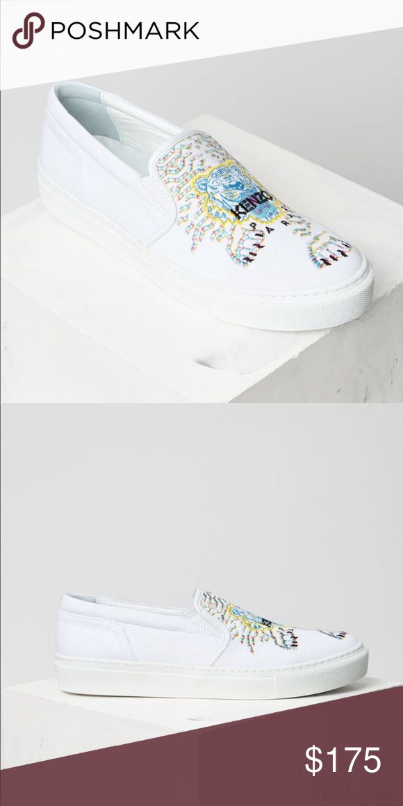 Geo-Tiger x Rainbow' Slip-on Brand new Kenzo sneaker. Never been used because it is oversized for the owner. Bought on October 2017 with size 39. Kenzo Shoes Sneakers