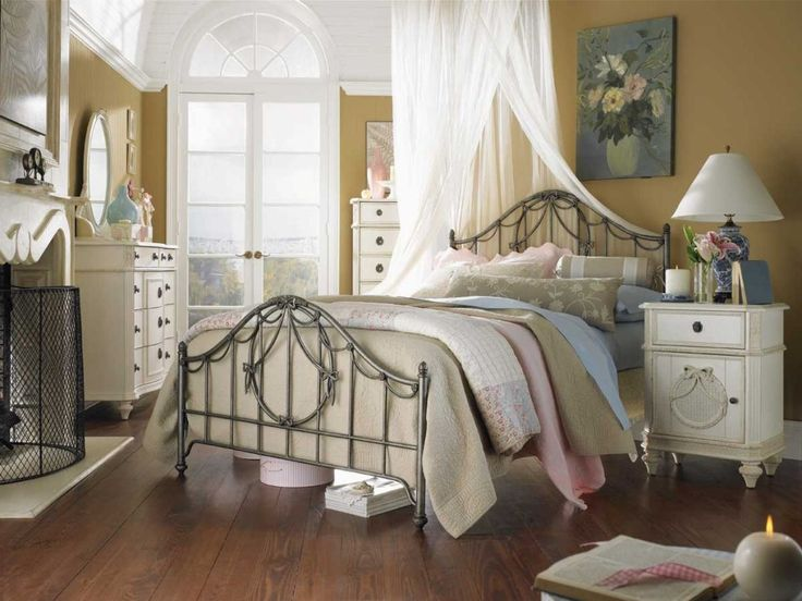 Bedroom: French Country Style Bedroom Furniture Double King Queen Bed Decor  Decoration Wall Color White