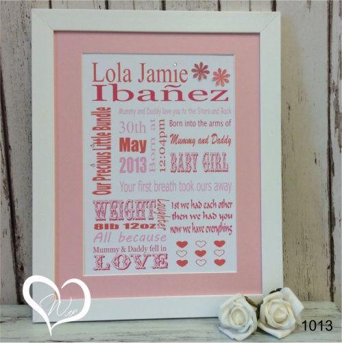 Baby Girl Word Art