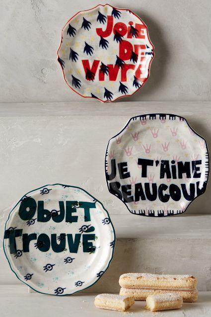 17 best images about illustration on ceramics on pinterest for Calligrapher canape plate anthropologie