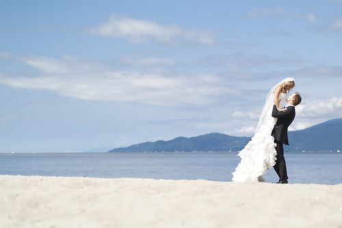 Bride and Groom, wedding, beach, photography