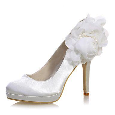 Γάμος Παπούτσια - Γυναικεία - Στρογγυλή Μύτη - Γόβες - Γάμος / Πάρτι & Βραδινή Έξοδος - Μπλε / Μωβ / Ιβουάρ / Άσπρο / Ασημί / Σαμπανιζέ – EUR € 37.99