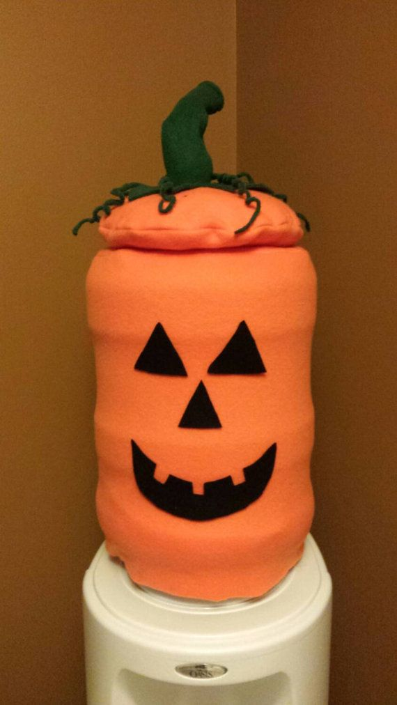 Jack O Lantern Water Cooler Cover by TheCozyCaterpillar on Etsy