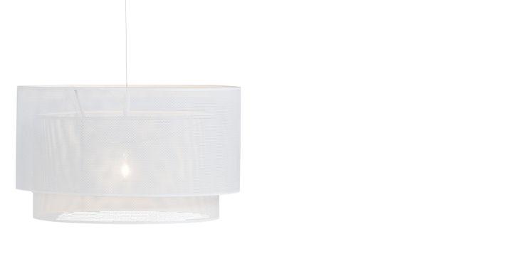 Houston Drum Pendant Light, White | made.com