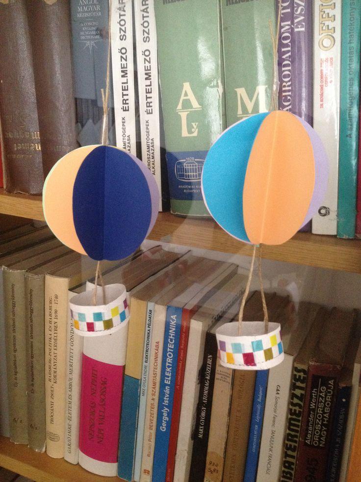 hőlégballon (színes papírból és wc papír gurigából)