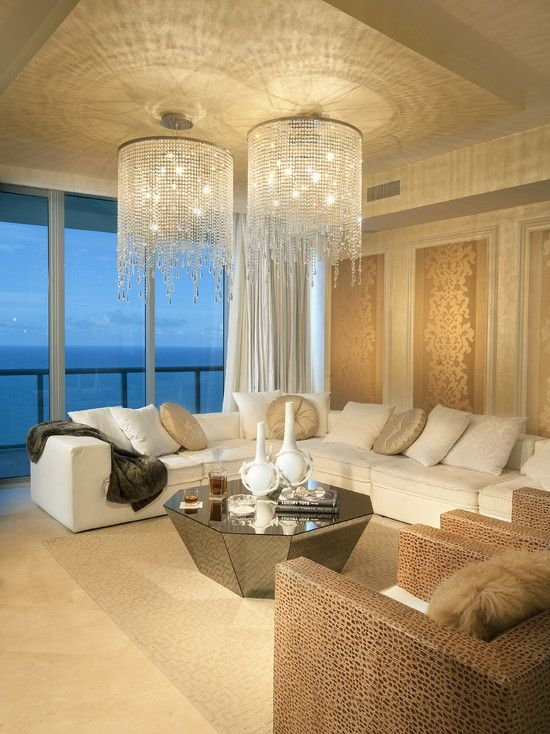 Ohh fancyDecor, Crystals Chand, Living Rooms, Contemporary Living Room, Lights Fixtures, Living Room Design, The View, Livingroom, Interiors Design