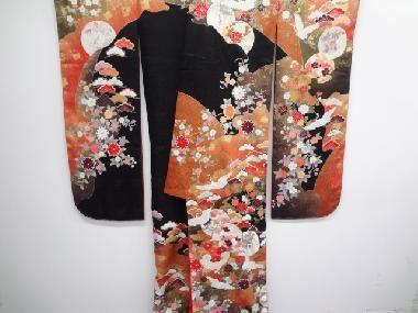 [ 着物・帯 ] - 振袖 未使用品 仕立て上がり 金彩松に鶴・花模様刺繍花嫁衣装打掛(比翼付き) | 着物、アンティーク着物、リサイクル着物のシンエイ