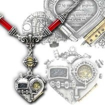 Corvus Machina of the Heart Gothic Steampunk Necklace
