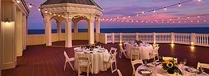Rooftop terrace beach wedding | Fort Lauderdale Wedding Venues | Pelican Grand Beach Resort
