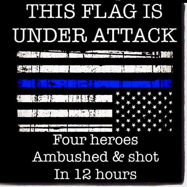 Stay vigilant and back up one another. Most importantly, make it home. Stay safe blue family. ⚫️⚫️